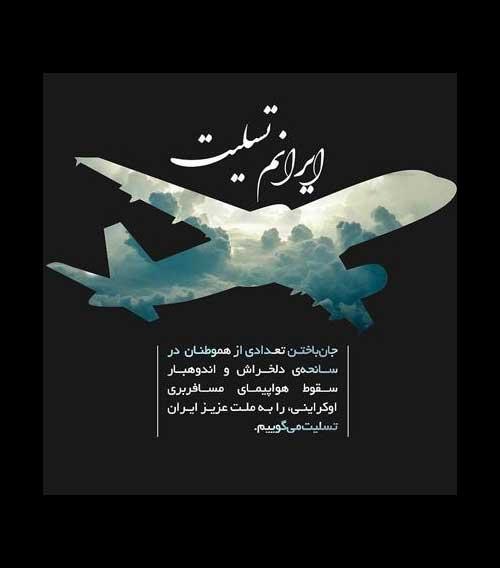 ایرانم تسلیت ؛ جان باختن تعدادی از هموطنان در سانحه هواپیمای مسافربرس اکراین